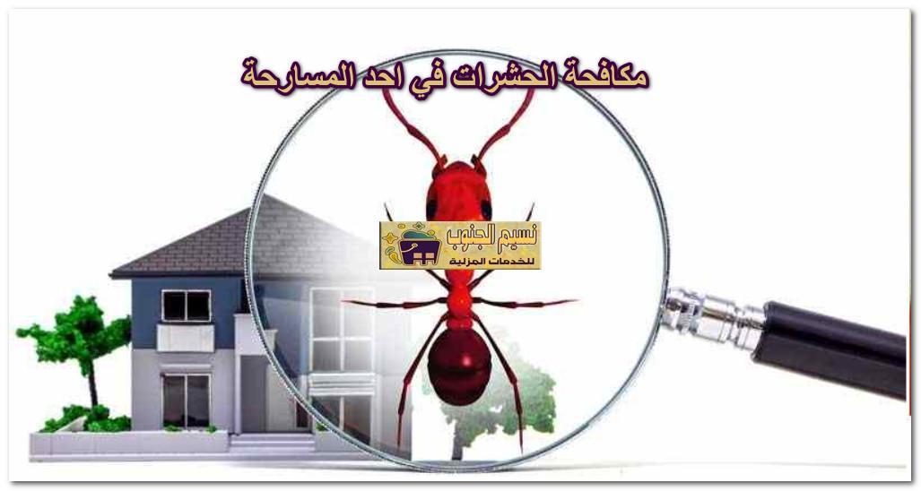 مكافحة الحشرات في احد المسارحة
